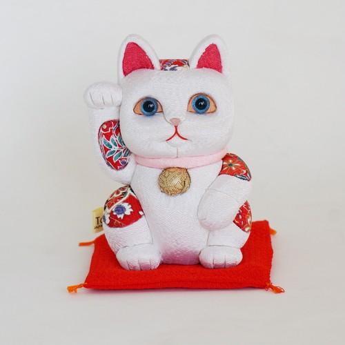 招き猫(中) 風水 白