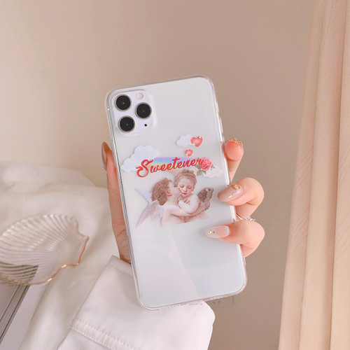 Retro kiss angel iphone case