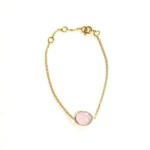 【Crystal sugar/pink】ローズクオーツのブレスレット