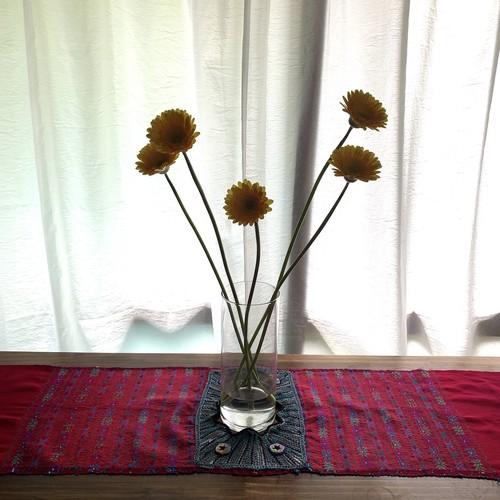 Vintage Hand Needle Table Liner _02(ヴィンテージ 刺繍 テーブルライナー/テーブルクロス/タペストリー)