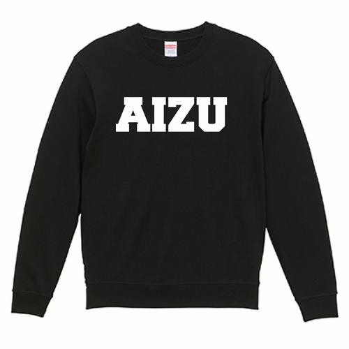 AIZU-クルーネック スウェット BASIC/ブラック