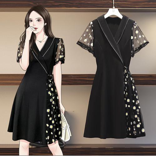 【dress】おしゃれ!ファッション切り替えデートワンピース着心地よい M-0285