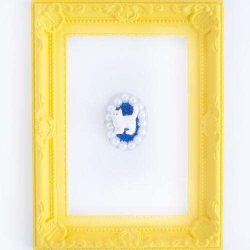 ✴︎カスタム✴︎白猫のブローチ