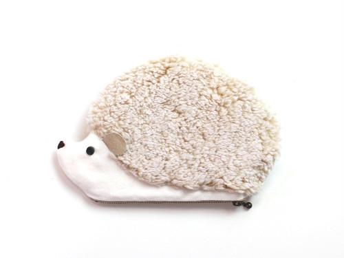ハリネズミのポーチ ホワイト