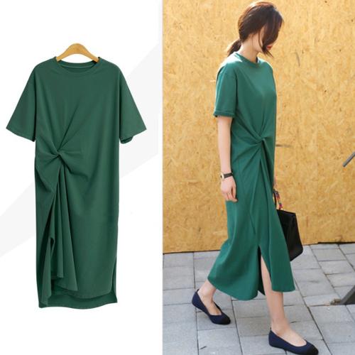 【dress】ゆったりカジュアルロング丈ワンピース着心地よい3色