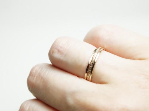 【在庫限り】 K10 Smith Ring / Three