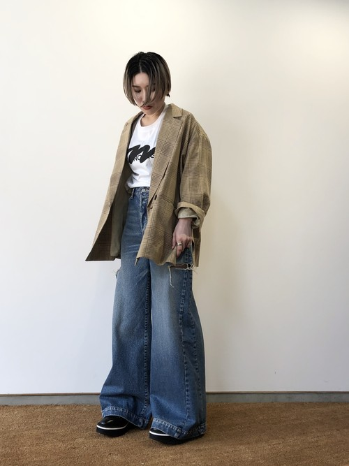 【20SS】CLANE クラネ / SIDE SLIT OVER TAILORED JACKET(BEIGE)