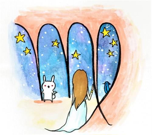 星座のメッセージカード「乙女座」