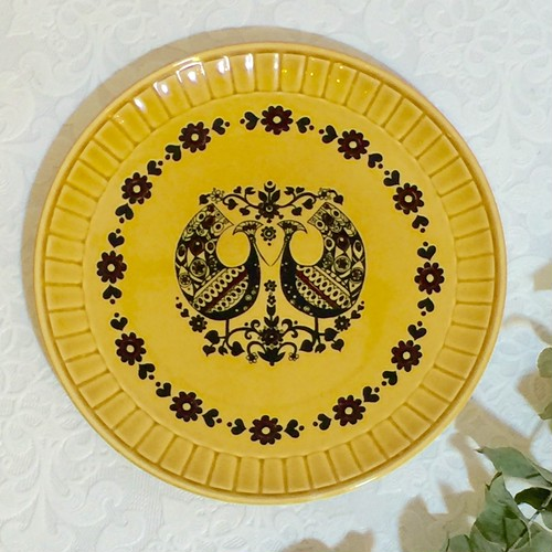 "70's Vintage Plate ""Palissy"" from ENGLAND [CPV-1]"