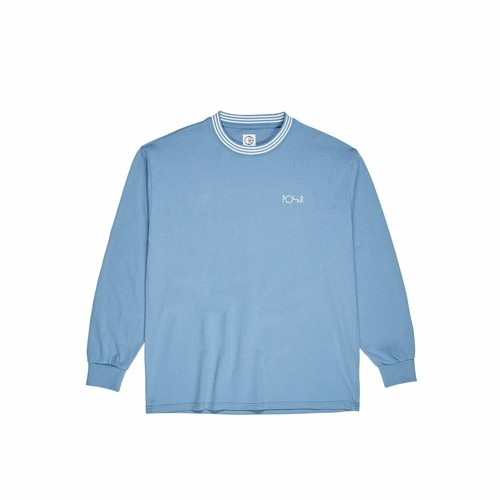 POLAR SKATE CO (ポーラー) / STRIPED RIB LONGSLEEVE -BLUE-