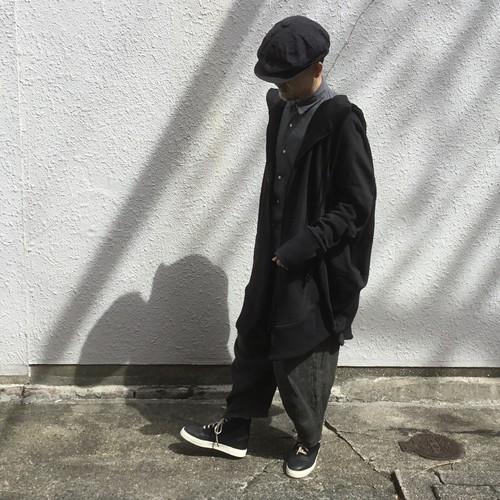 ROGGYKEI/ロギーケイ CIRCLE ZIP UP HOODIE/サークルジップアップフーディ black