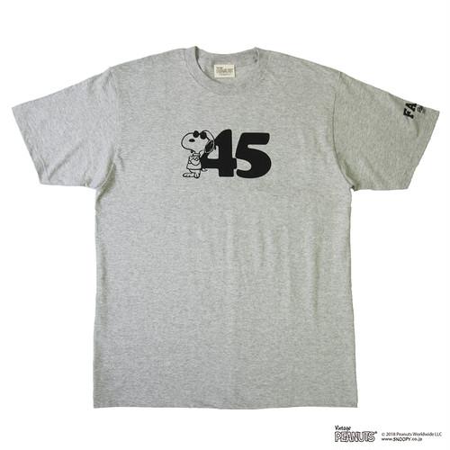 45'S TEE / GRAY × BLACK