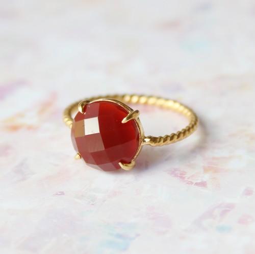 #12 Twist ring レッドオニキス