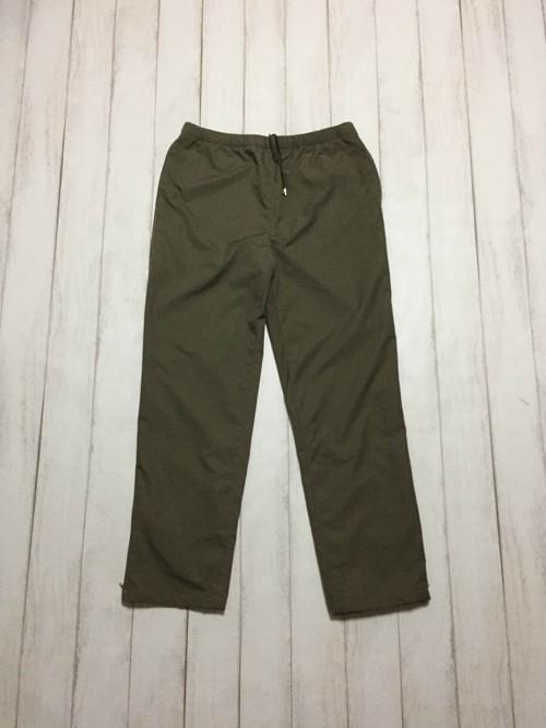 side zip nylon pants / khaki