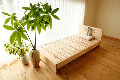 赤板タイプ【200年杉】シングル(「眠れる森のSUGI」ベッド)