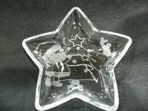 星形トレイ グラスリッツェン クリスマス