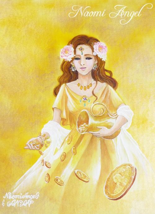 A4サイズ複製画 Abundantia 豊かさの女神 アバンダンティアⅠ