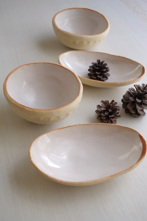 Nut Bowl set : White