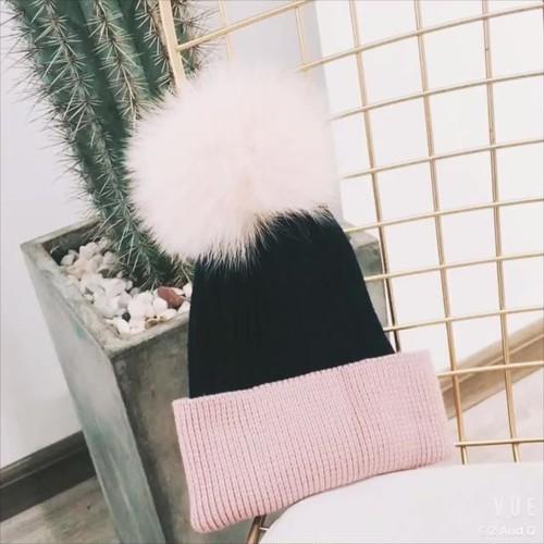 暖かい ウール帽子 ニットウールキャップ