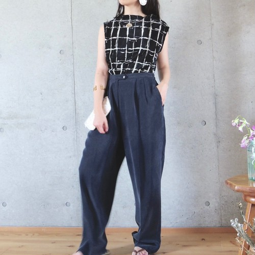 silk tapered pants