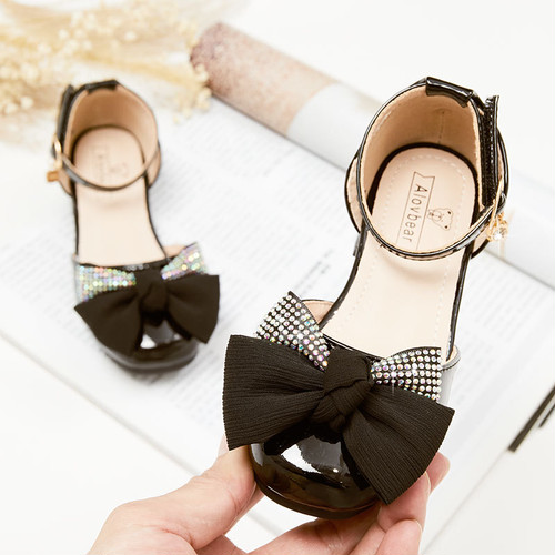 7842子供靴 キッズ ジュニア サンダル パンプス シューズ  女の子 女児 子ども サンダル 夏シューズ お姫様シューズ ベビーシューズ17cm-21.5cm