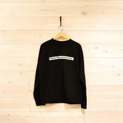 White Mountaineering DROP SHOULDER  LOGO SWEARSHIRT