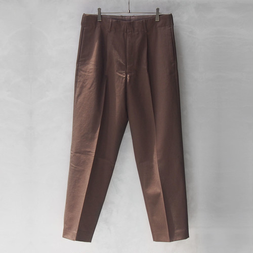AURALEE WASHED FINX CHINO TAPERED PANTS BROWN