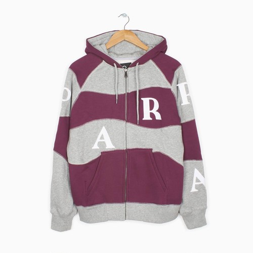 by Parra - hooded vest wavey stripes (Heather, Deep Purple)