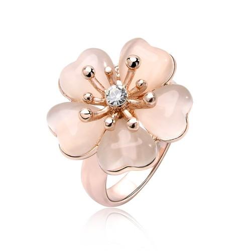 IUHA 淡いピンク桜リング  指輪 金属アレルギーと変色防止 アクセサリー ギフト  50iuhav