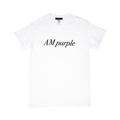 AM purple / Tshirt (white)
