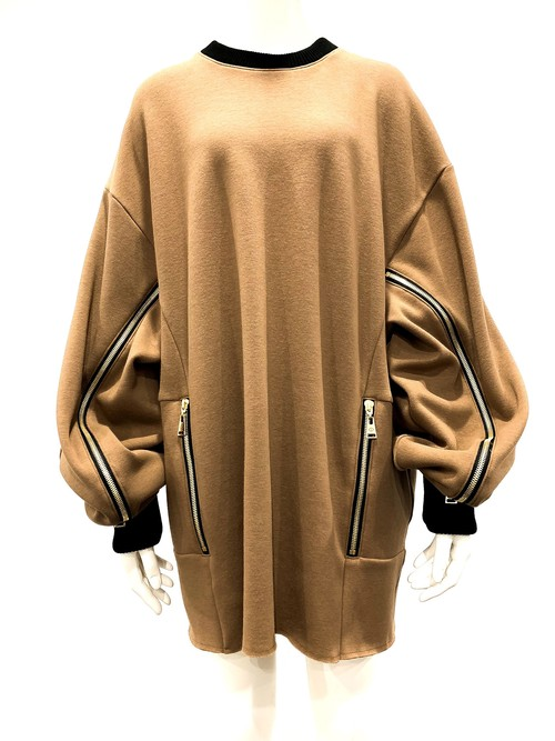 Panel Sweat Shirts (Brown)