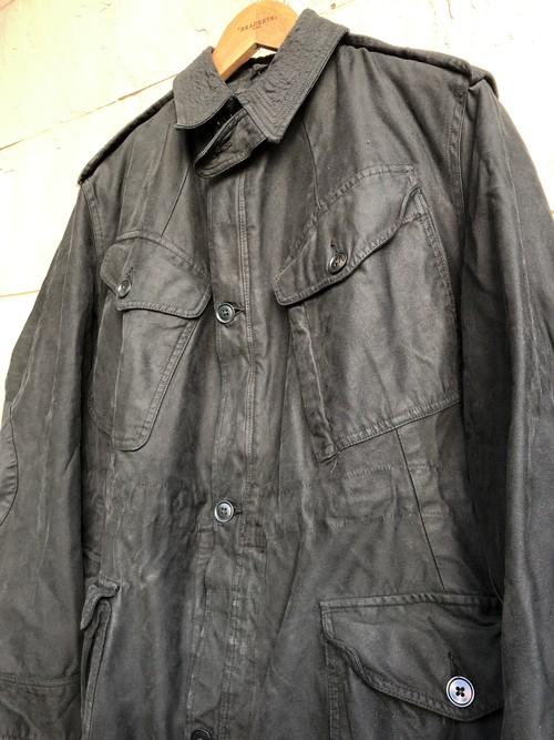 British 1960s pattern jacket overdyed black color 2