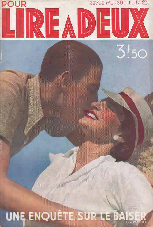 Pour Lire A Deux 1936年4月  Une Enquete Sur Le Baiser