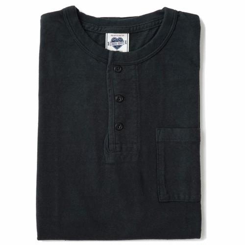 DRESS HIPPY(ドレスヒッピー)/PACK TEE HENRY POCKET (BLACK)