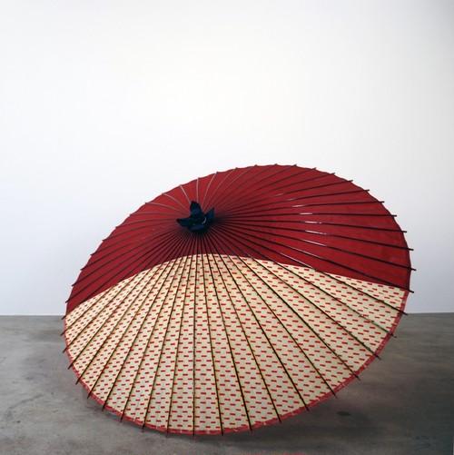 蛇の目傘 半月 (赤)