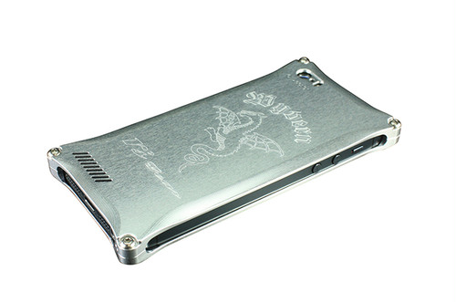iPhone 5/5s/SE用 ワイバンスマートフォンケース シルバー[XXSP-0003-SV]