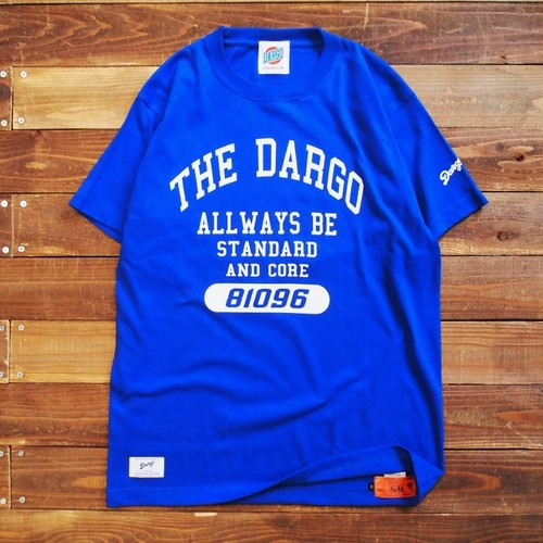 "【DARGO】""Colleg Logo"" T-shirt (LOYAL BLUE)"