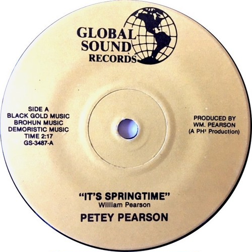 Petey Pearson ‎– It's Springtime / Yes, I Love You