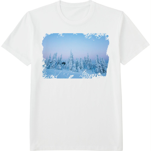86.Finland100 Tシャツ / 白の森