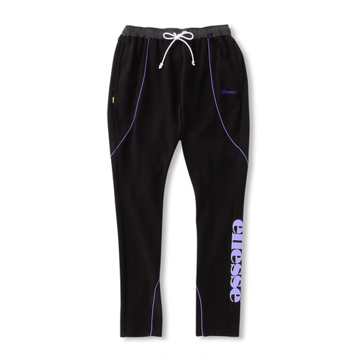 ELLESSE French Terry Piping Sarouel Pants BLACK