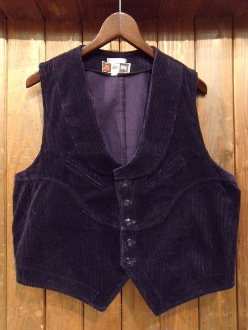 Vintage★70's 【chess king】Corduroy Vest