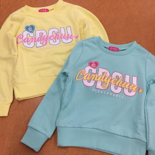 Candy chuu 209681ロゴ刺繍トレーナー