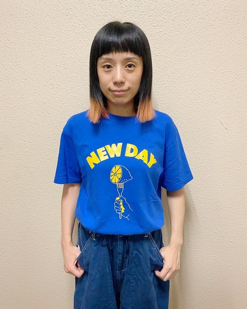 NEW DAY T-Shirt 〈BLUE×YELLOW〉