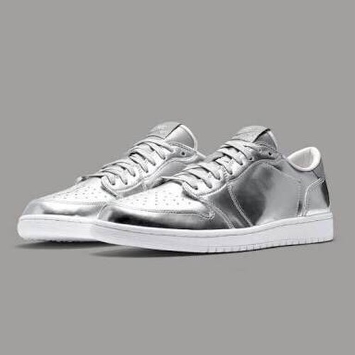 AIR JORDAN 1 RETRO LOW OG PINNACLE エア ジョーダン 1 レトロ ローカット ピナクル 【MEN'S】 metallic silver/white 852549-003
