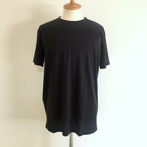 Cupro Crew Neck Cut & Sewn Black