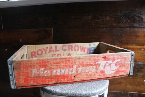 ROYAL CROWN COLA ロイヤルクラウンウッド・ドリンクBOX・ビンテージ・アカ