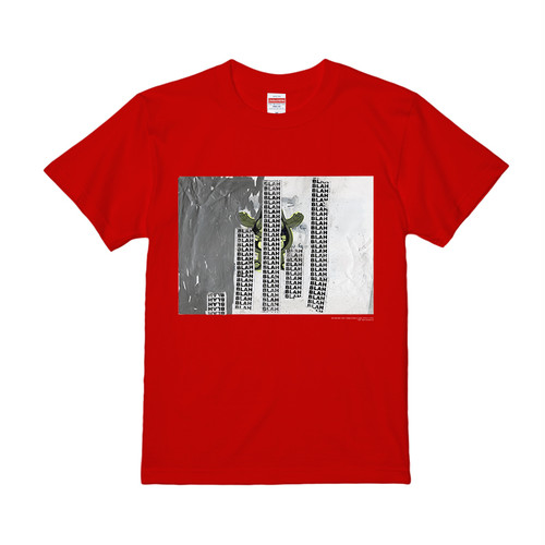 """BLAH BLAH BLAH"" T-SHIRT RED (5.6oz/REGULAR FIT)"
