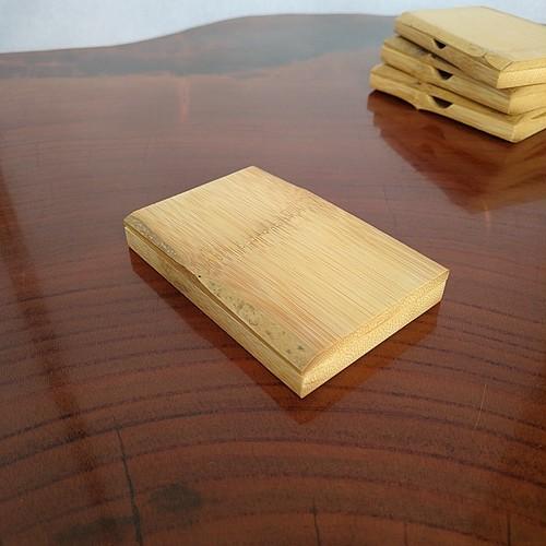 竹製名刺ケース 名刺入れ 取り出し凹み無し