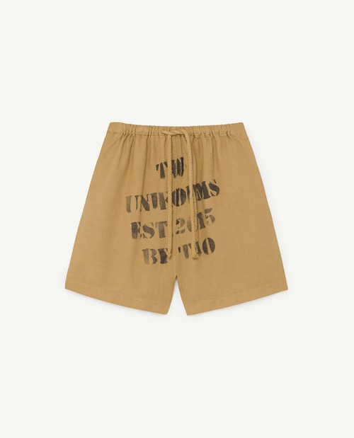 the animals observatory BEE KIDS BERMUDAS BROWN UNIFORMS