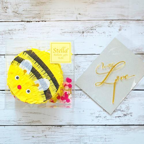 『honey bee』mini piñata + kirakira topper set